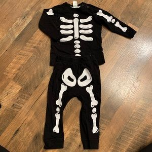H&M skeleton outfit